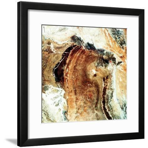Satellite Photograph of Great Namaland, Namibia, 1972--Framed Art Print