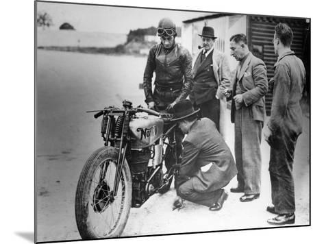 Jimmy Guthrie Riding a Norton, 1930s--Mounted Photographic Print