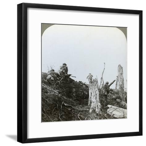 Assault in Trones Wood, Somme, France, World War I, 1916--Framed Art Print