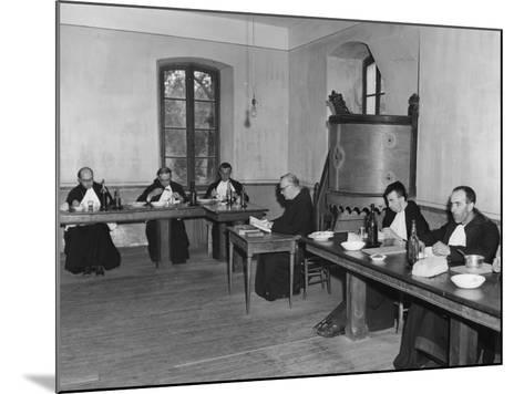 Monks at Dinner in the Refectory, Asile St Leon, France, C1947-1951--Mounted Photographic Print