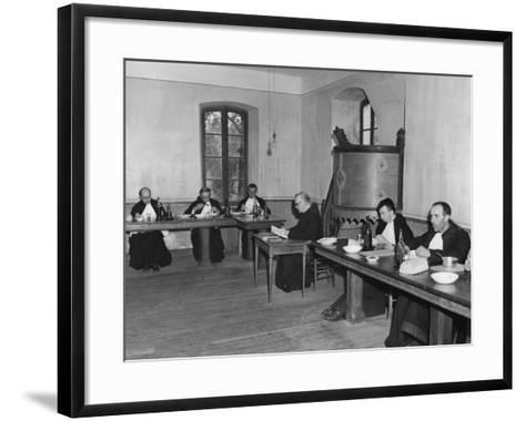 Monks at Dinner in the Refectory, Asile St Leon, France, C1947-1951--Framed Art Print