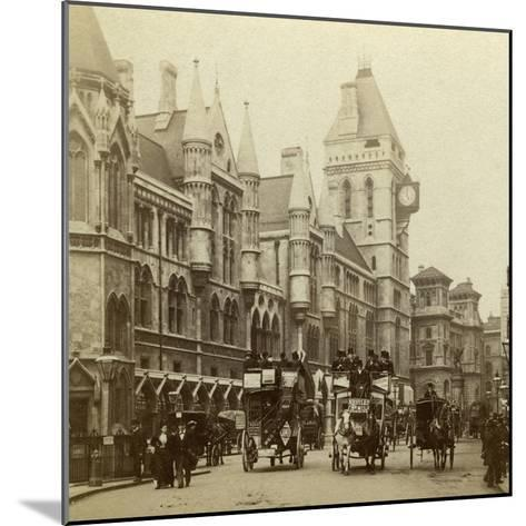 Law Courts, Strand, London, Late 19th Century--Mounted Photographic Print