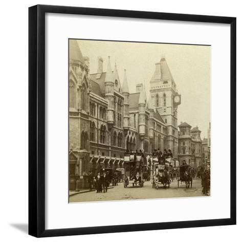 Law Courts, Strand, London, Late 19th Century--Framed Art Print