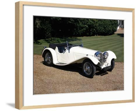 1937 Jaguar SS100--Framed Art Print