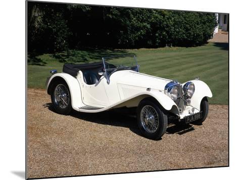 1937 Jaguar SS100--Mounted Photographic Print