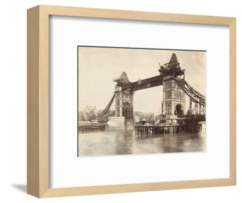 Tower Bridge under Construction, London, C1893--Framed Art Print