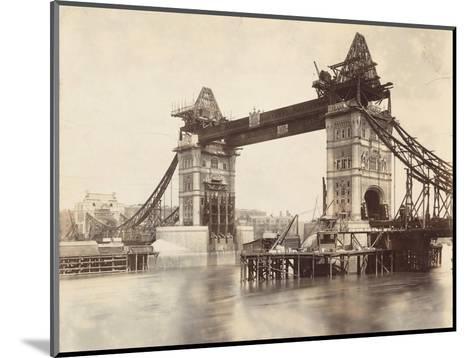 Tower Bridge under Construction, London, C1893--Mounted Photographic Print