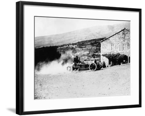 A Rolland-Pilain During the Mont Ventoux Hill Climb, Provence, France, 1909--Framed Art Print