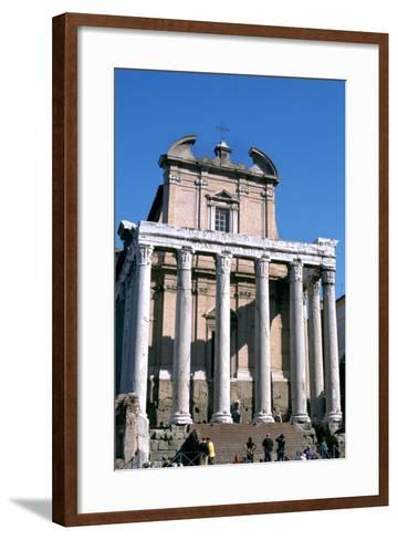 The Temple of Antoninus and Faustina, Rome, 141 Ad--Framed Art Print