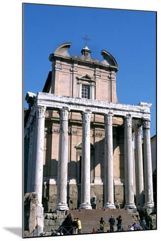 The Temple of Antoninus and Faustina, Rome, 141 Ad--Mounted Photographic Print