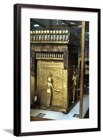 Golden Shrine of the Egyptian Pharoah Tutankhamun, C1325 Bc--Framed Art Print