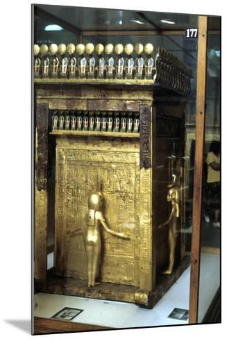 Golden Shrine of the Egyptian Pharoah Tutankhamun, C1325 Bc--Mounted Photographic Print