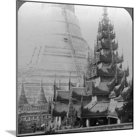 Shwedagon Pagoda, Rangoon, Burma, C1900s-Underwood & Underwood-Mounted Photographic Print