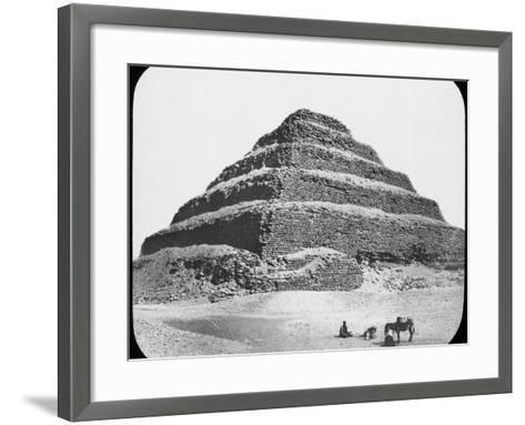 Stepped Pyramid of King Djoser, Saqqara, Egypt, C1890-Newton & Co-Framed Art Print