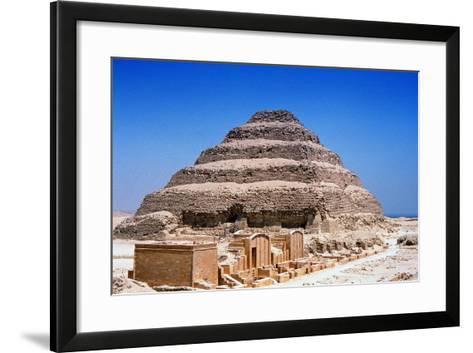 Step Pyramid of King Djoser (Zoze), Saqqara, Egypt, 3rd Dynasty, C2613 Bc--Framed Art Print