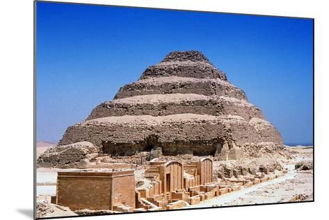Step Pyramid of King Djoser (Zoze), Saqqara, Egypt, 3rd Dynasty, C2613 Bc--Mounted Photographic Print