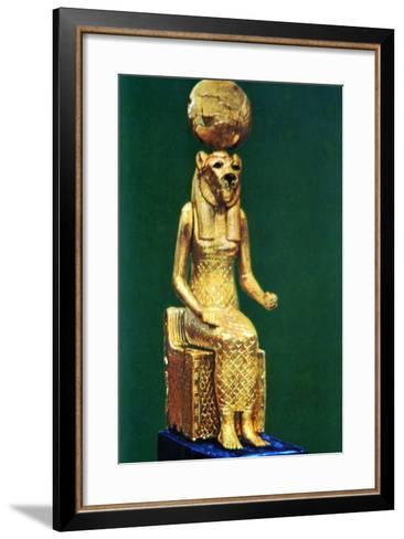 Seated Statuette of the Ancient Egyptian Goddess Sekhmet, 16th-13th Century Bc--Framed Art Print