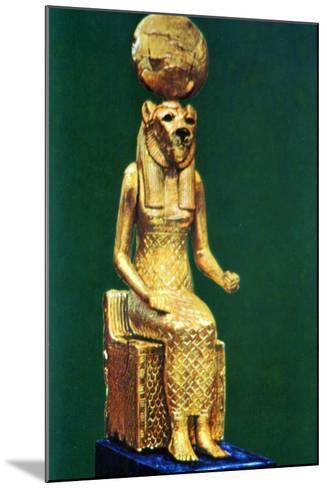 Seated Statuette of the Ancient Egyptian Goddess Sekhmet, 16th-13th Century Bc--Mounted Photographic Print