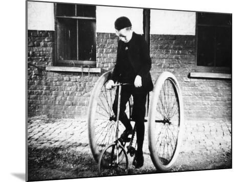 Johnny Dunlop Riding His Tricycle with Rubber Tyres, 1888--Mounted Photographic Print