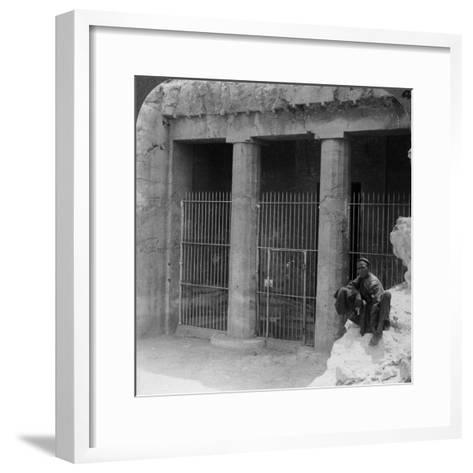 The Tomb of a Feudal Lord at Beni Hasan, Built About 1900 BC, Egypt, 1905-Underwood & Underwood-Framed Art Print