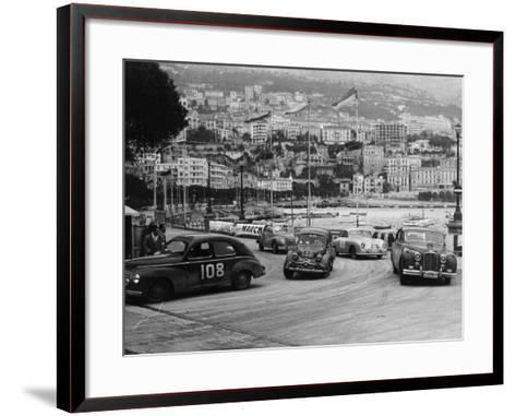 The Monte Carlo Rally, Monaco, 1954--Framed Art Print