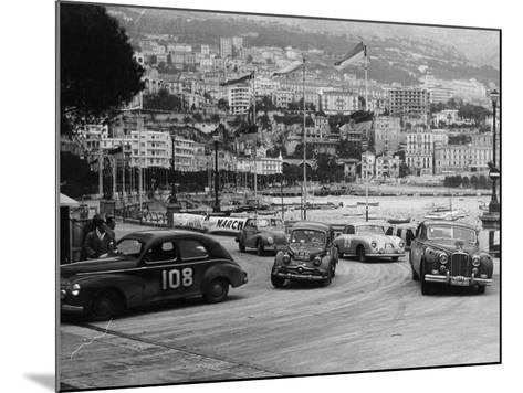 The Monte Carlo Rally, Monaco, 1954--Mounted Photographic Print