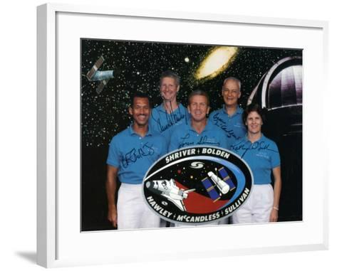 The Crew of Space Shuttle Mission Sts-31, 1990--Framed Art Print