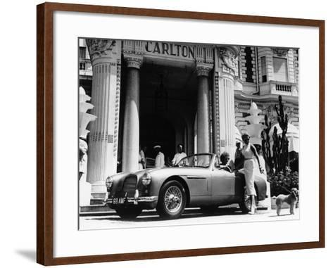 Aston Martin DB2-4 Outside the Hotel Carlton, Cannes, France, 1955--Framed Art Print