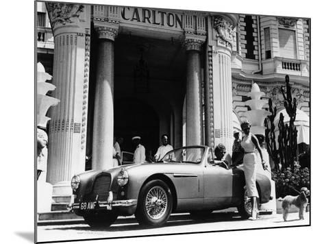 Aston Martin DB2-4 Outside the Hotel Carlton, Cannes, France, 1955--Mounted Photographic Print