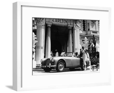 aston martin db2 4 outside the hotel carlton cannes france 1955 photographic print by. Black Bedroom Furniture Sets. Home Design Ideas