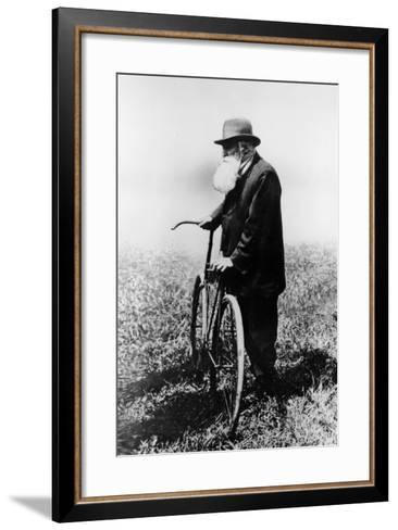 John Boyd Dunlop with Bicycle, July 1918--Framed Art Print