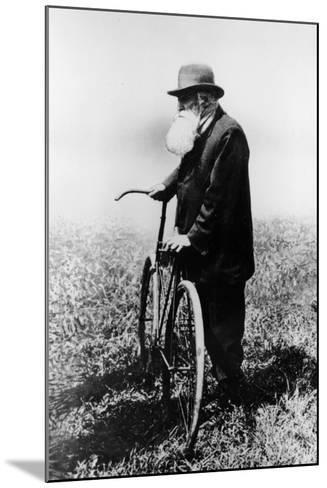 John Boyd Dunlop with Bicycle, July 1918--Mounted Photographic Print