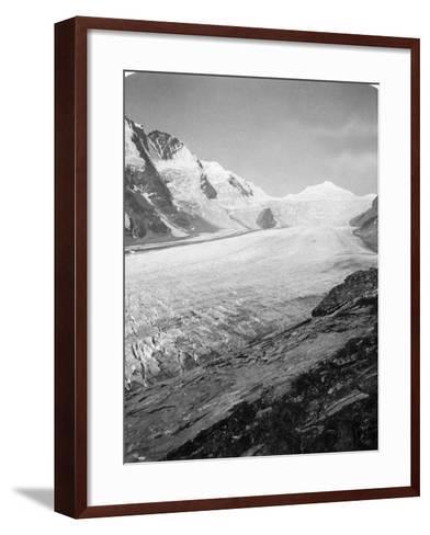 Grossglockner, Hohe Tauern, Austria, C1900s-Wurthle & Sons-Framed Art Print