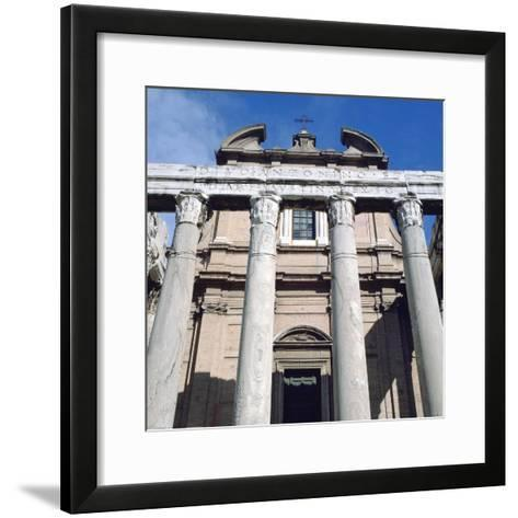 The Temple of Antoninus and Faustina, Rome--Framed Art Print