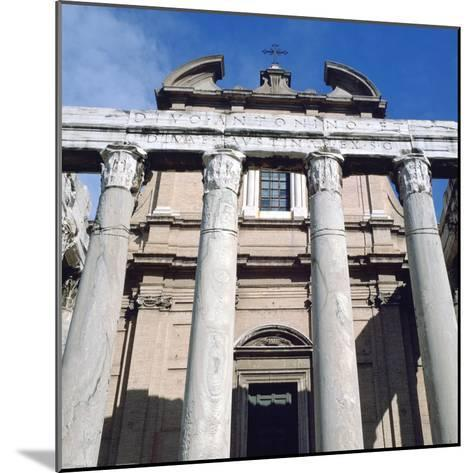 The Temple of Antoninus and Faustina, Rome--Mounted Photographic Print