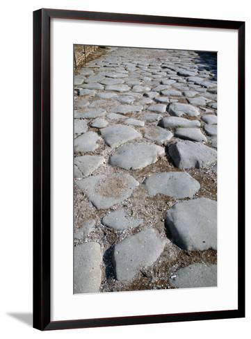 The Via Sacra, Rome--Framed Art Print