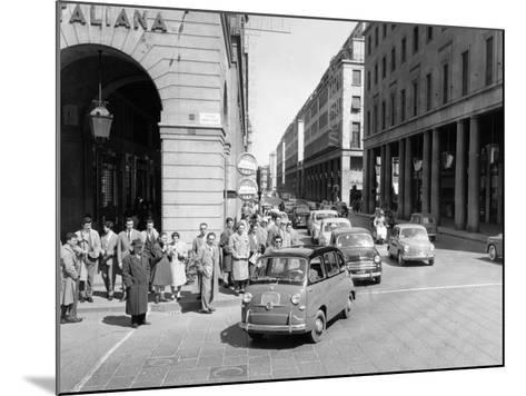 Fiat 600 Multipla Leading a Procession of Fiats, Italy, (Late 1950S)--Mounted Photographic Print