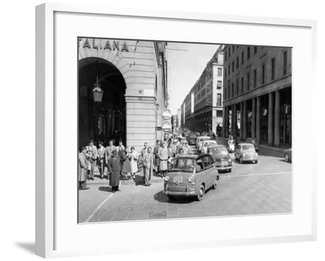 Fiat 600 Multipla Leading a Procession of Fiats, Italy, (Late 1950S)--Framed Art Print