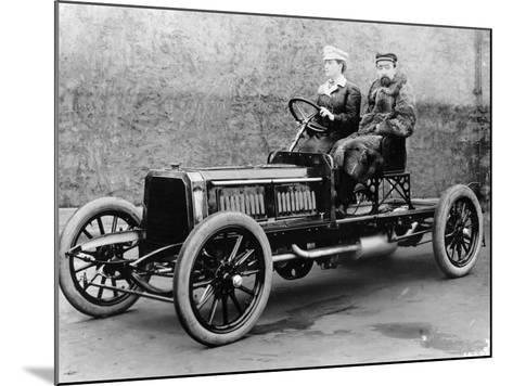 Madame Du Gaste and Monsieur Barbarou in a Benz Parsifal, 1903--Mounted Photographic Print