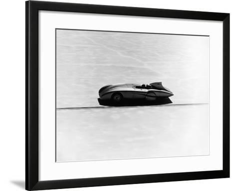 Donald Healey's Austin Healey Attempting a Land Speed Record, 1953--Framed Art Print