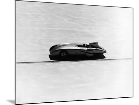 Donald Healey's Austin Healey Attempting a Land Speed Record, 1953--Mounted Photographic Print