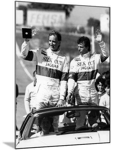 John Watson and Jan Lammers Waving at the Crowds at Jarama, Spain, 1987--Mounted Photographic Print