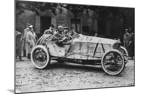 Mercedes Which Came Third in the 1914 French Grand Prix--Mounted Photographic Print