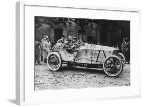 Mercedes Which Came Third in the 1914 French Grand Prix--Framed Art Print