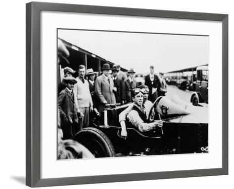 Jack Barclay in a Vauxhall Tt Car at Brooklands, Surrey--Framed Art Print