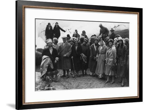 Group of Tourists Visiting Svartisen, Northern Norway, 1929--Framed Art Print