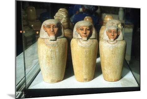 Canopic Jars, Ancient Egyptian, 26th Dynasty, 664-525 BC--Mounted Photographic Print