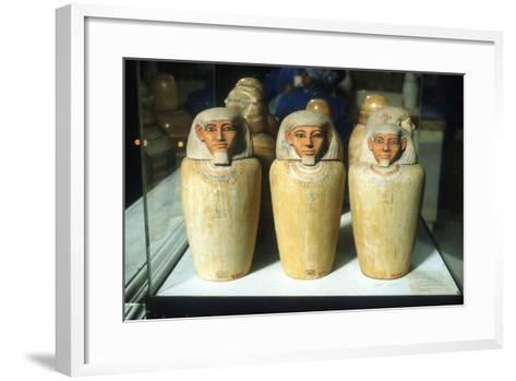 Canopic Jars, Ancient Egyptian, 26th Dynasty, 664-525 BC--Framed Art Print