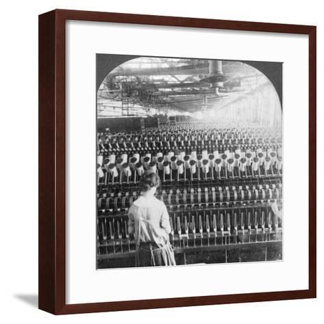 Spinning Room, Philadelphia, Pennsylvania, USA, Late 19th or Early 20th Century--Framed Art Print