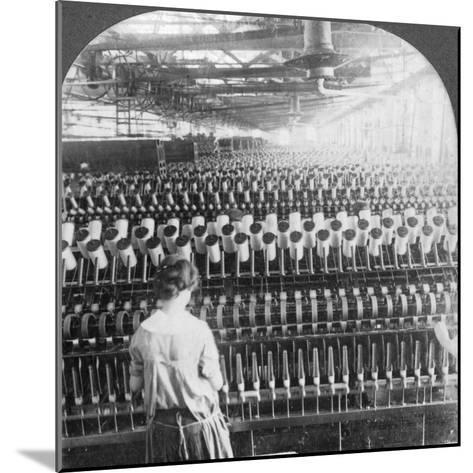 Spinning Room, Philadelphia, Pennsylvania, USA, Late 19th or Early 20th Century--Mounted Photographic Print